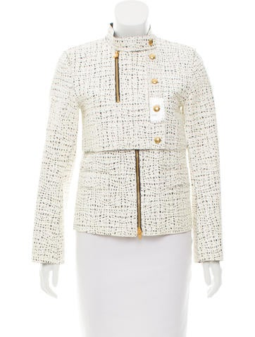 Alexander Wang Textured Long Sleeve Jacket None