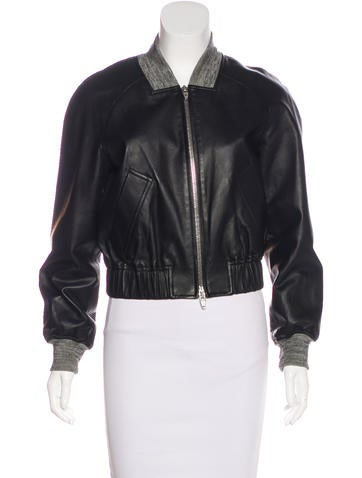 Alexander Wang Leather Bomber Jacket None