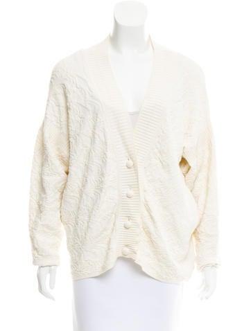 Alexander Wang Textured Jacquard Knit Cardigan None