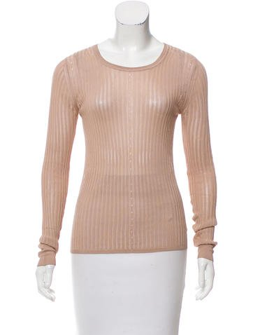 Alexander Wang Embellished Rib Knit Top None