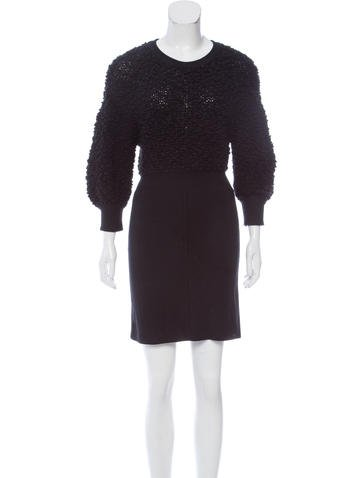 Alexander Wang Mini Sweater Dress None