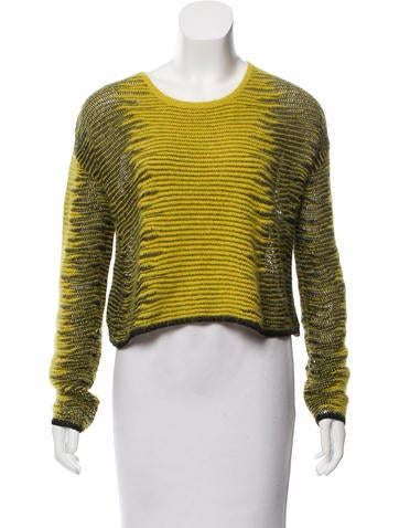 Alexander Wang Cropped Long Sleeve Sweater None
