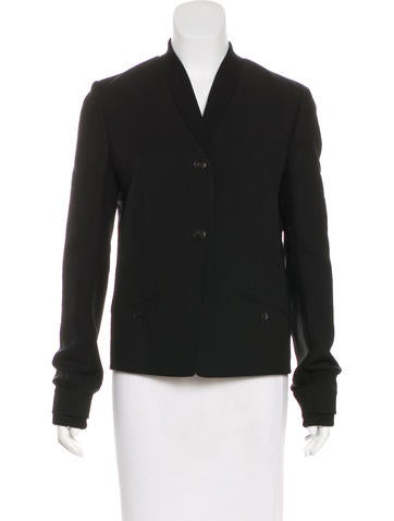 Alexander Wang Wool-Blend Rib Knit-Trimmed Blazer None