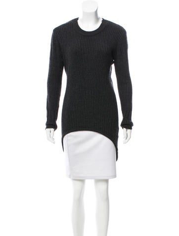 Alexander Wang High-Low Button-Up Sweater None