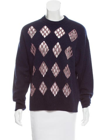 Alexander Wang Wool Cutout Sweater None