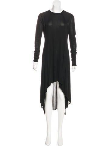 Alexander Wang Rib Knit Asymmetrical Dress None