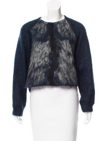 Alexander Wang Patterned Mohair-Blend Sweater None