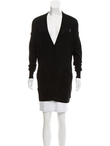 Alexander Wang Cutout Wool Cardigan None