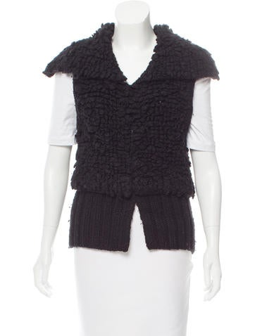 Alexander Wang Wool-Blend Sleeveless Cardigan None