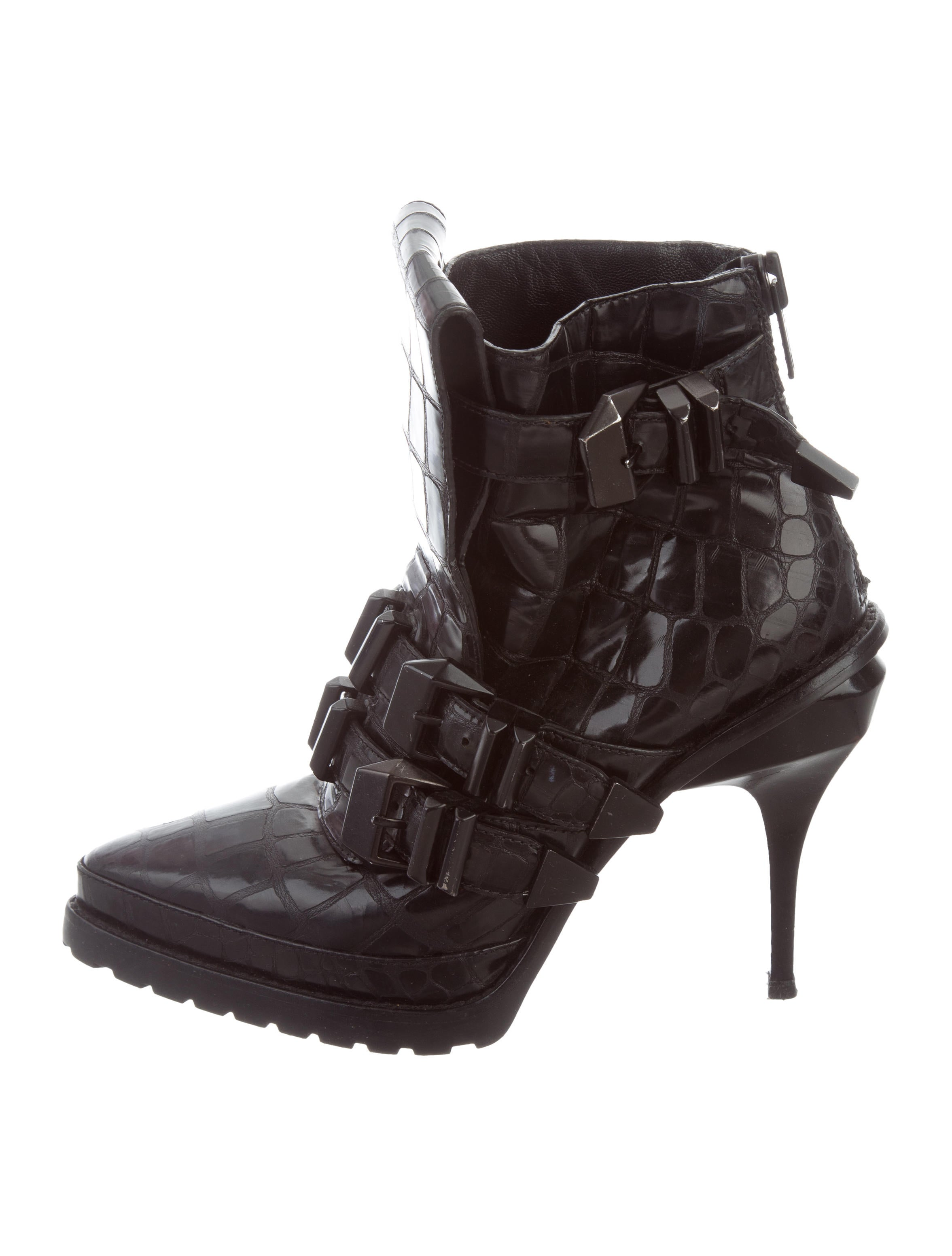 for sale for sale cheap sale new Alexander Wang Patent Leather Buckle Booties cheap price outlet original for sale 4xdtb4y0P