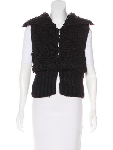 Alexander Wang Textured Wool-Blend Vest None
