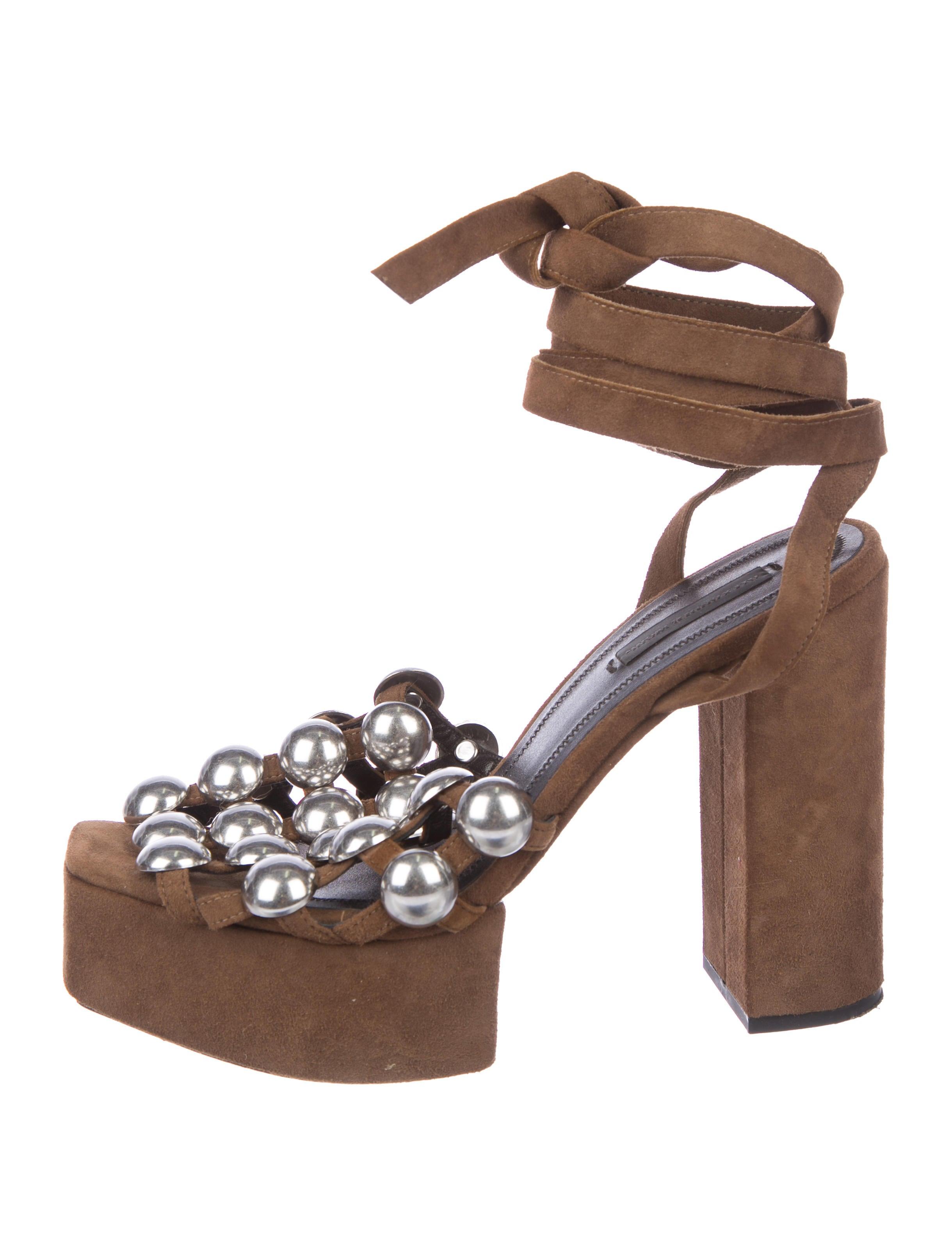 best place online tumblr for sale Alexander Wang Studded Wrap-Around Sandals outlet store P3jcIvbh7