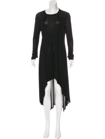 Alexander Wang Rib Knit High-Low Dress None