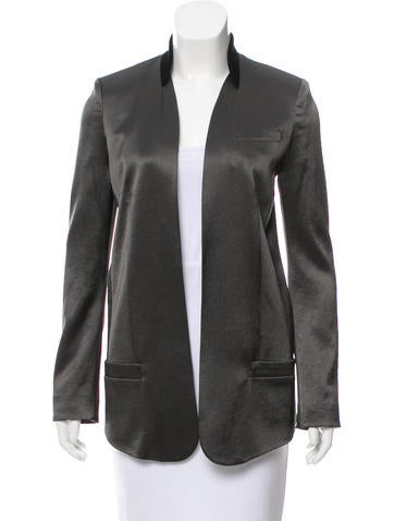Alexander Wang Structured Satin Blazer None