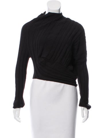 Alexander Wang Asymmetrical Long Sleeve Sweater None