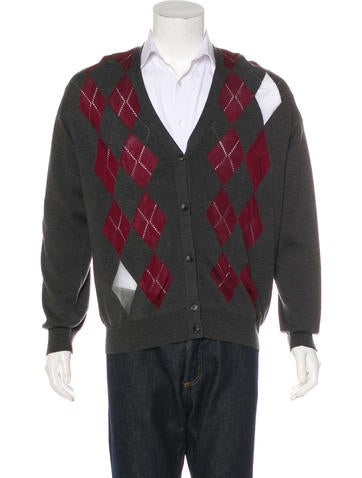 Alexander Wang Argyle Wool Cardigan None