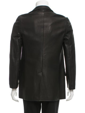 Open Front Leather Jacket
