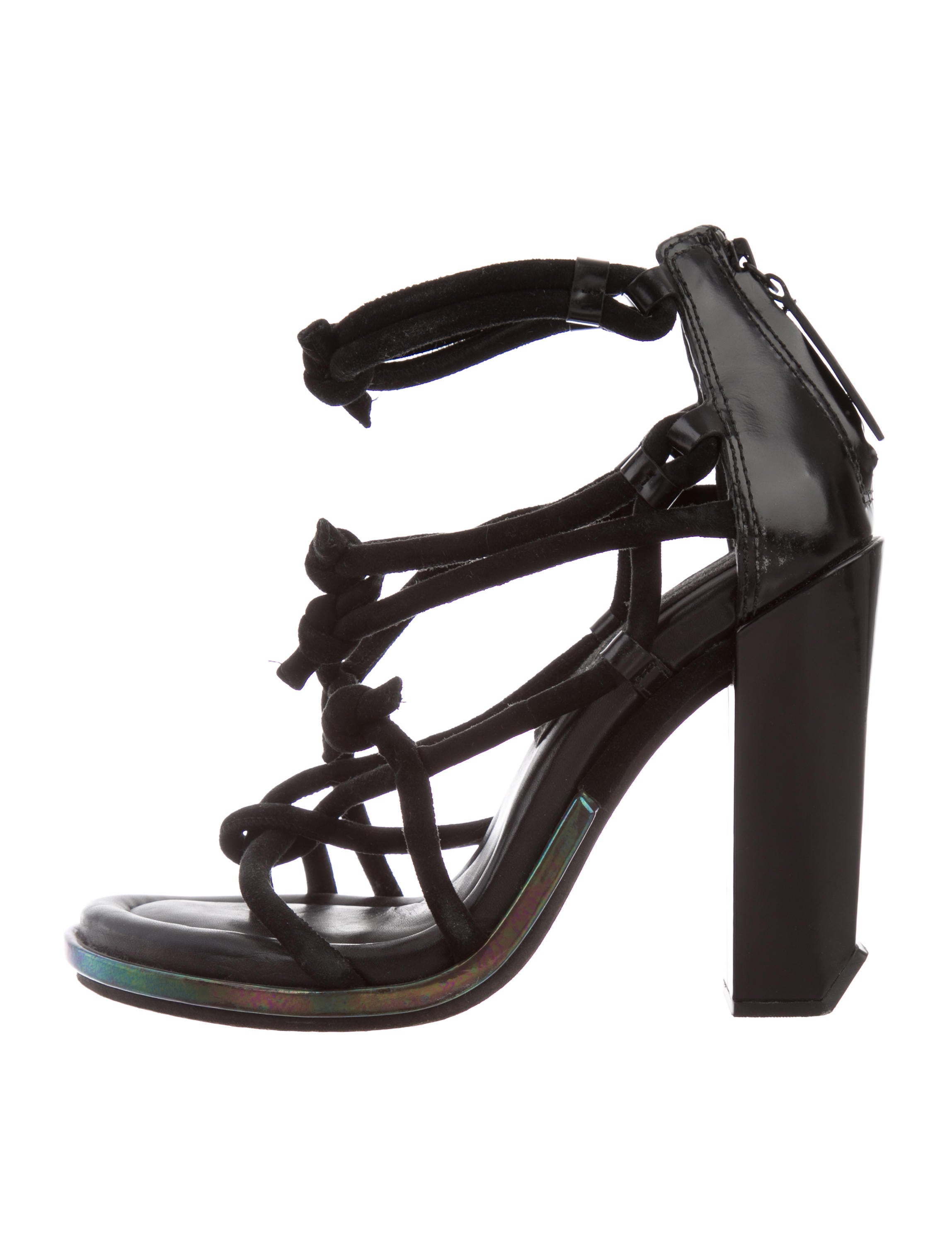 buy cheap low price fee shipping Alexander Wang Suede Knot-Accented Sandals free shipping visa payment 35aft4m