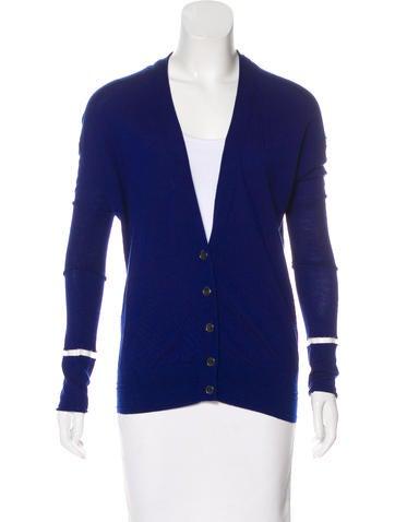 Alexander Wang Long Sleeve Wool Cardigan None