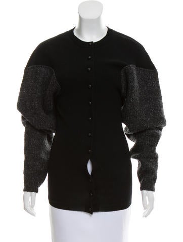 Alexander Wang Structured Rib Knit Cardigan None