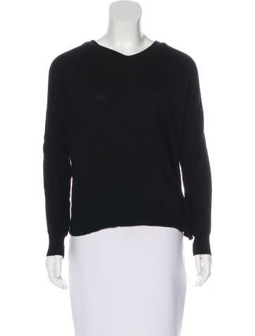 Alexander Wang Long Sleeve Wool Top None