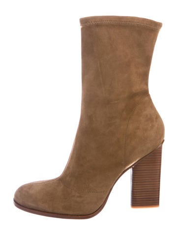 Suede Mid-Calf Boots w/ Tags