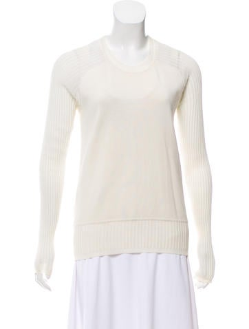 Alexander Wang Long Sleeve Knit Sweater None
