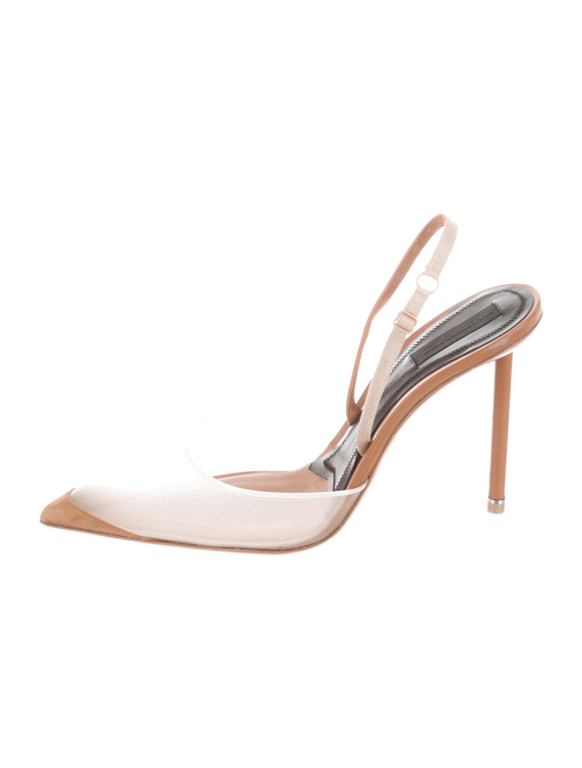1f255394942d Alexander Wang Mesh Alix Slingbacks - Shoes - ALX49607