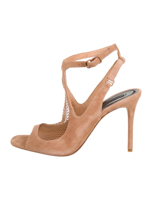 d4925555e3 Alexander Wang 2018 Piper Suede Fishnet Sandals - Shoes - ALX49708 ...