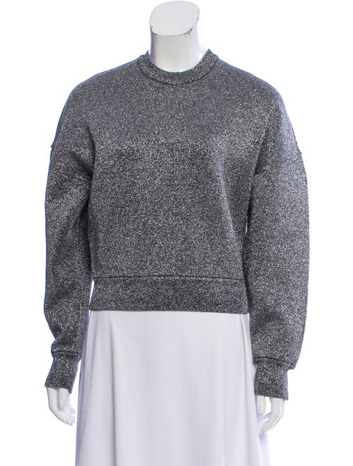 Alexander Wang Metallic Dolman Sweater Silver
