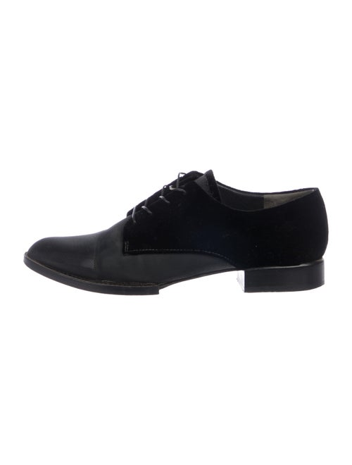 Alexander Wang Velvet Derby Shoes black