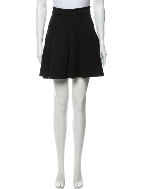 Alexander Wang Pleated Accents Mini Skirt Black