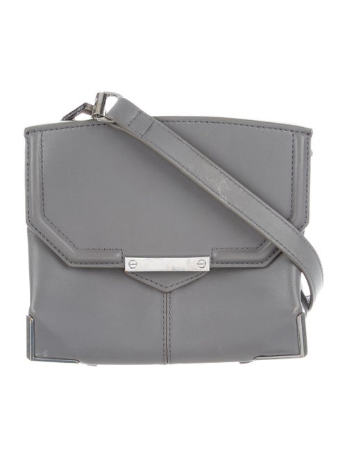 Alexander Wang Leather Crossbody Bag Grey