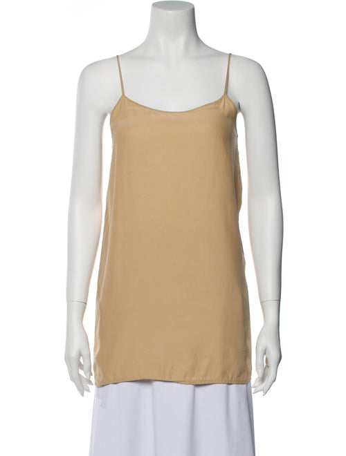 Alexander Wang Square Neckline Sleeveless Top Yell