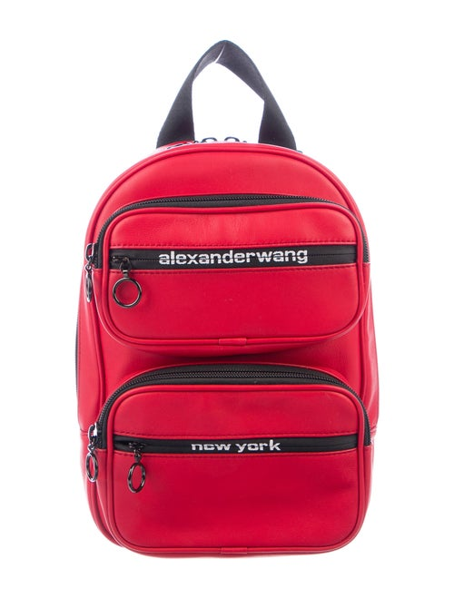 Alexander Wang Leather Mini Backpack Red