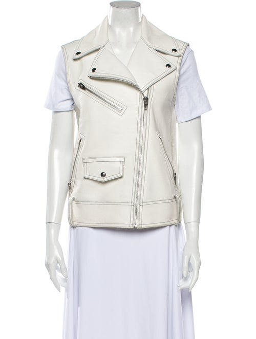 Alexander Wang Leather Vest White