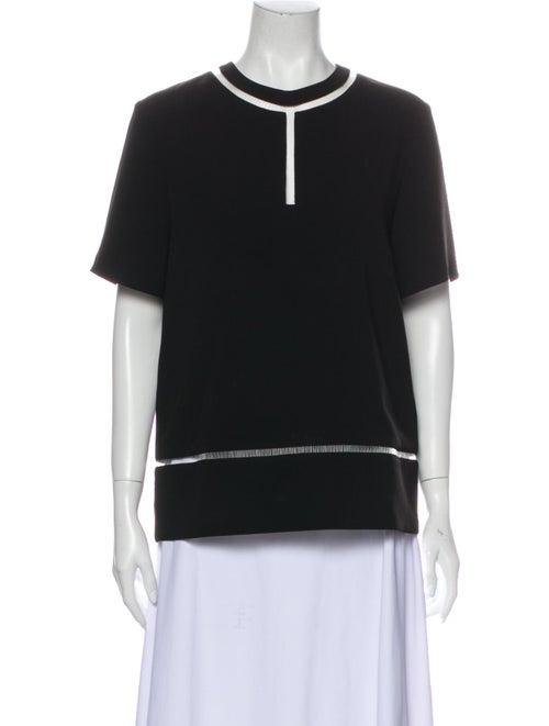 Alexander Wang Crew Neck Short Sleeve Sweatshirt B