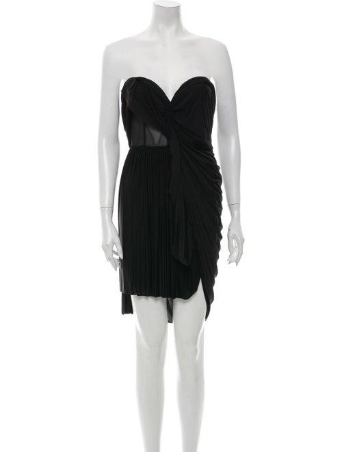 Alexander Wang Strapless Mini Dress Black