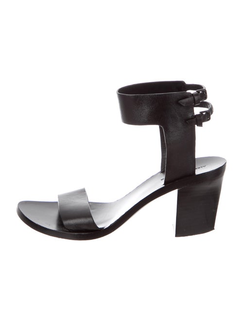 Alexander Wang Leather Sandals Black