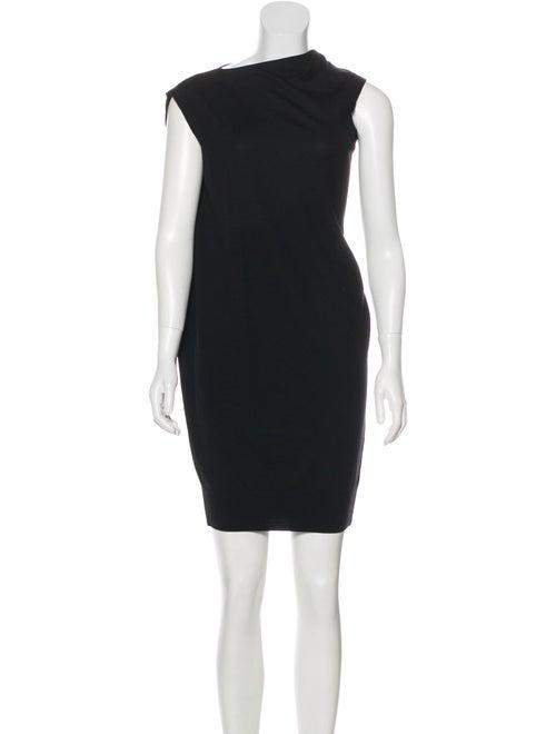 Alexander Wang Merino Wool Asymmetrical Dress Blac