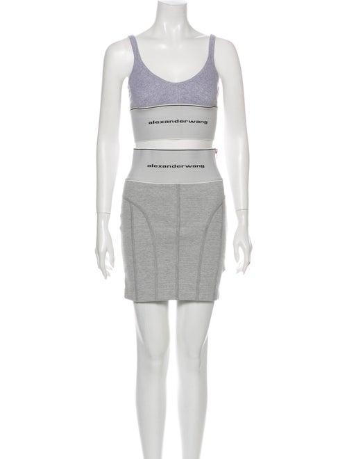 Alexander Wang Graphic Print Skirt Set Grey