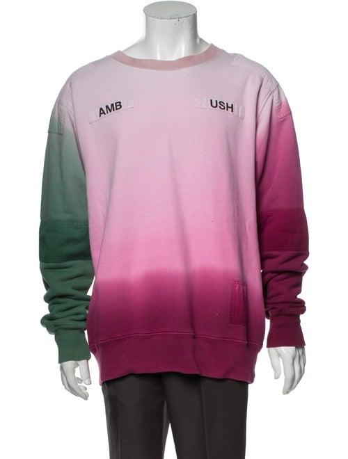 Ambush Tie-Dye Print Crew Neck Sweatshirt Pink