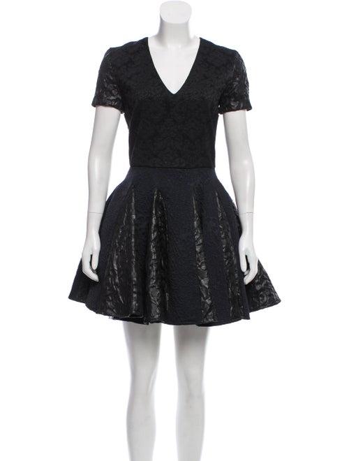 Amen. Jacquard Mini Dress Black