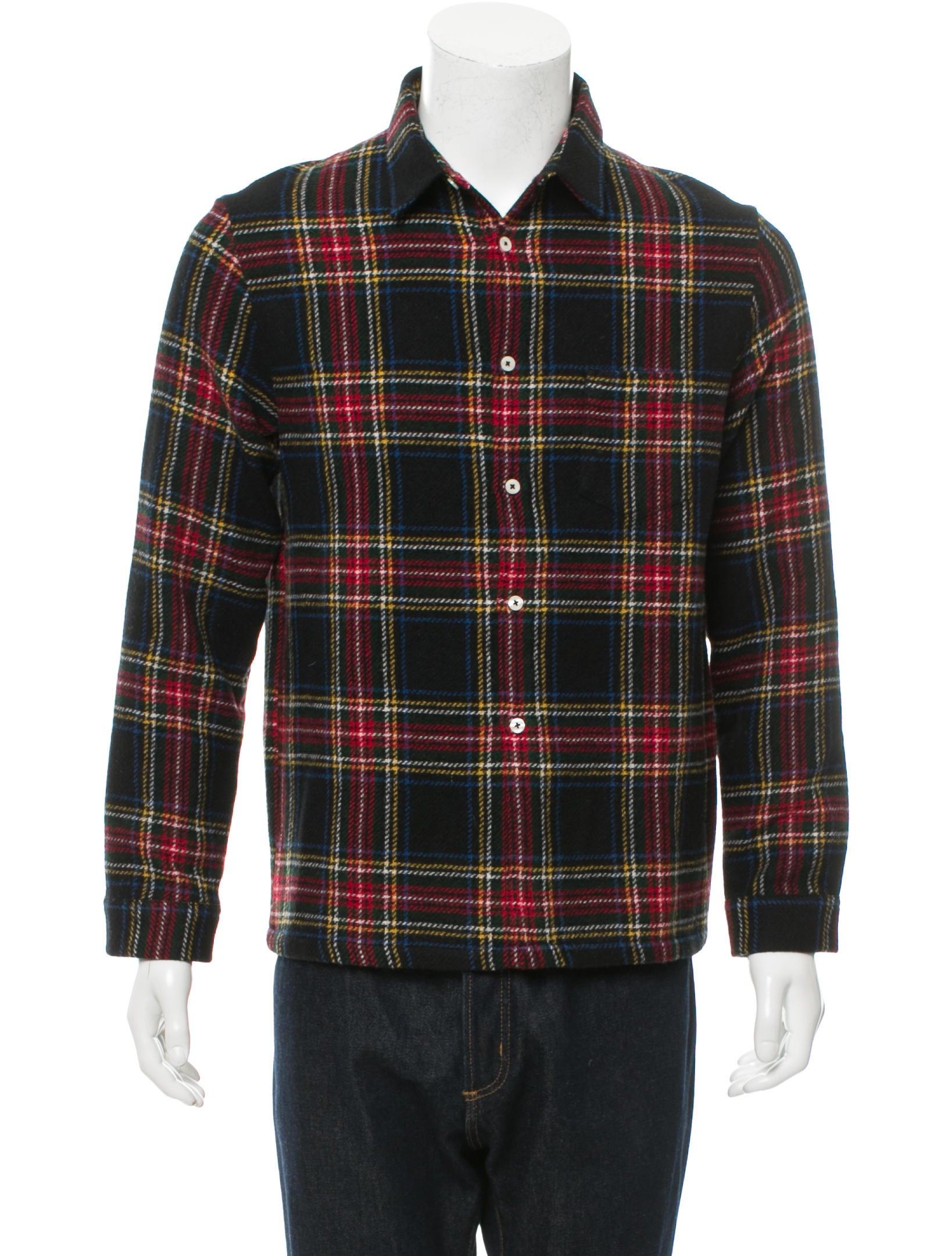 Ami alexandre mattiussi wool tartan flannel shirt w tags for Mens wool flannel shirt
