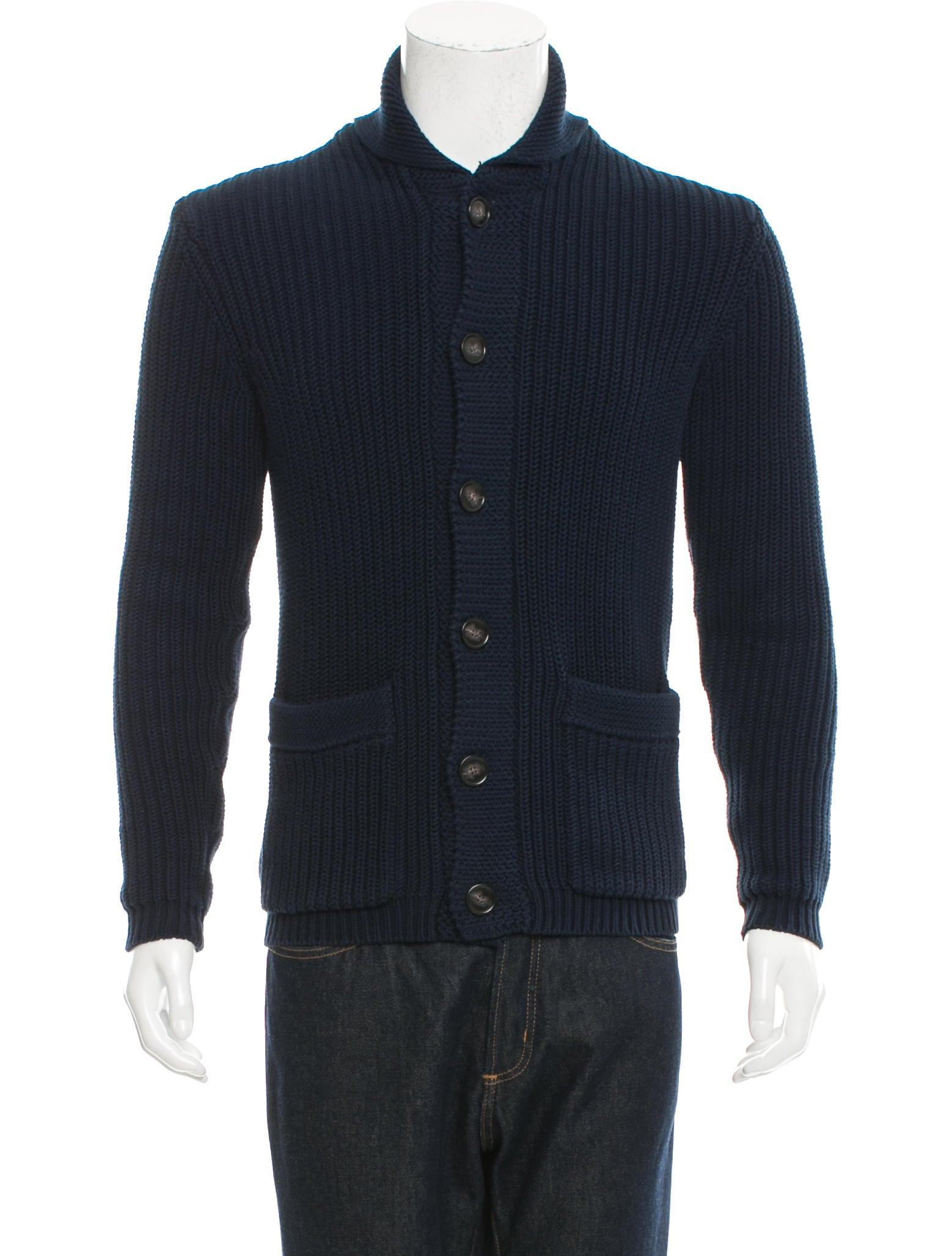 Knitting Cardigan Collar : Ami alexandre mattiussi rib knit shawl collar cardigan