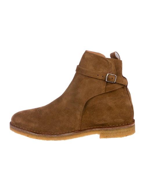 d17d3117c955b AMI Alexandre Mattiussi Suede Round-Toe Ankle Boots - Shoes ...