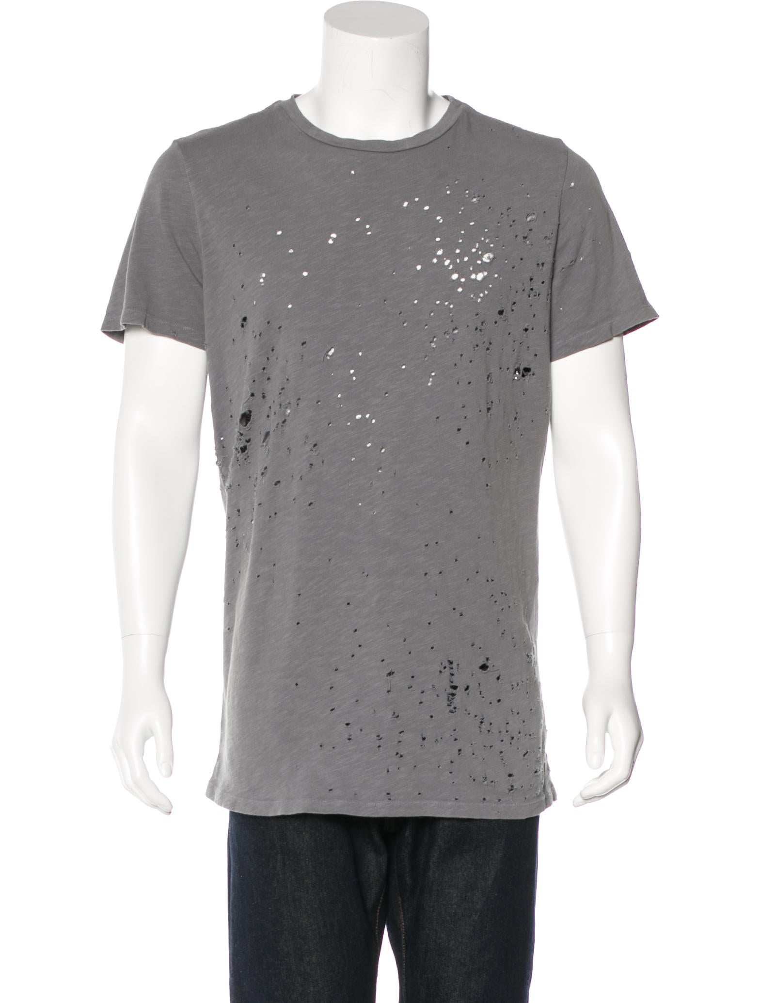 Amiri shotgun distressed t shirt clothing amiri20020 for How to make a distressed shirt