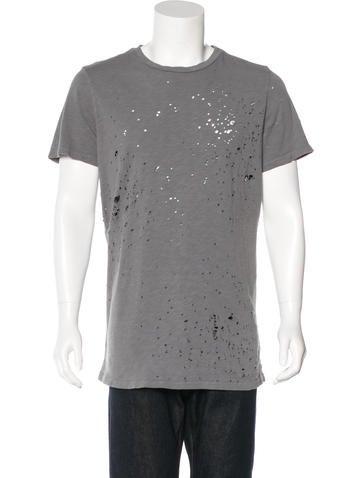 Amiri Shotgun Distressed T-Shirt None