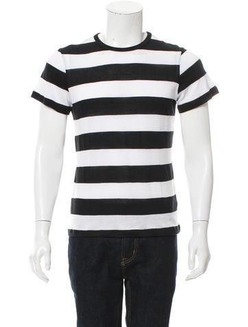 Amiri Striped Crew Neck T-Shirt w/ Tags None