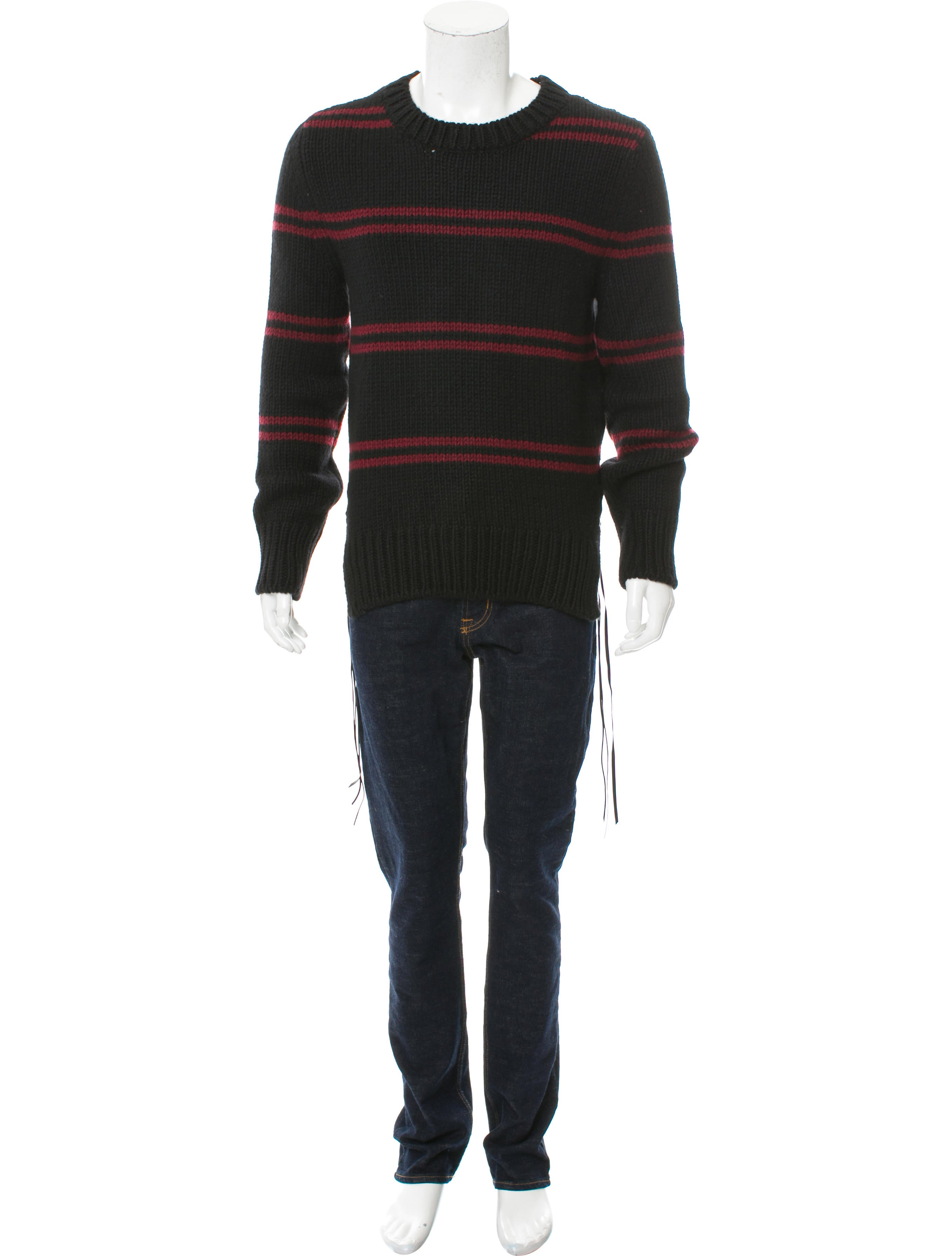 Amiri Double Stripe Cashmere Sweater W Tags Clothing